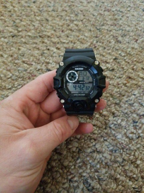 b87a2bef471 Black Mens Off brand utitality watch. for Sale in East Moriches