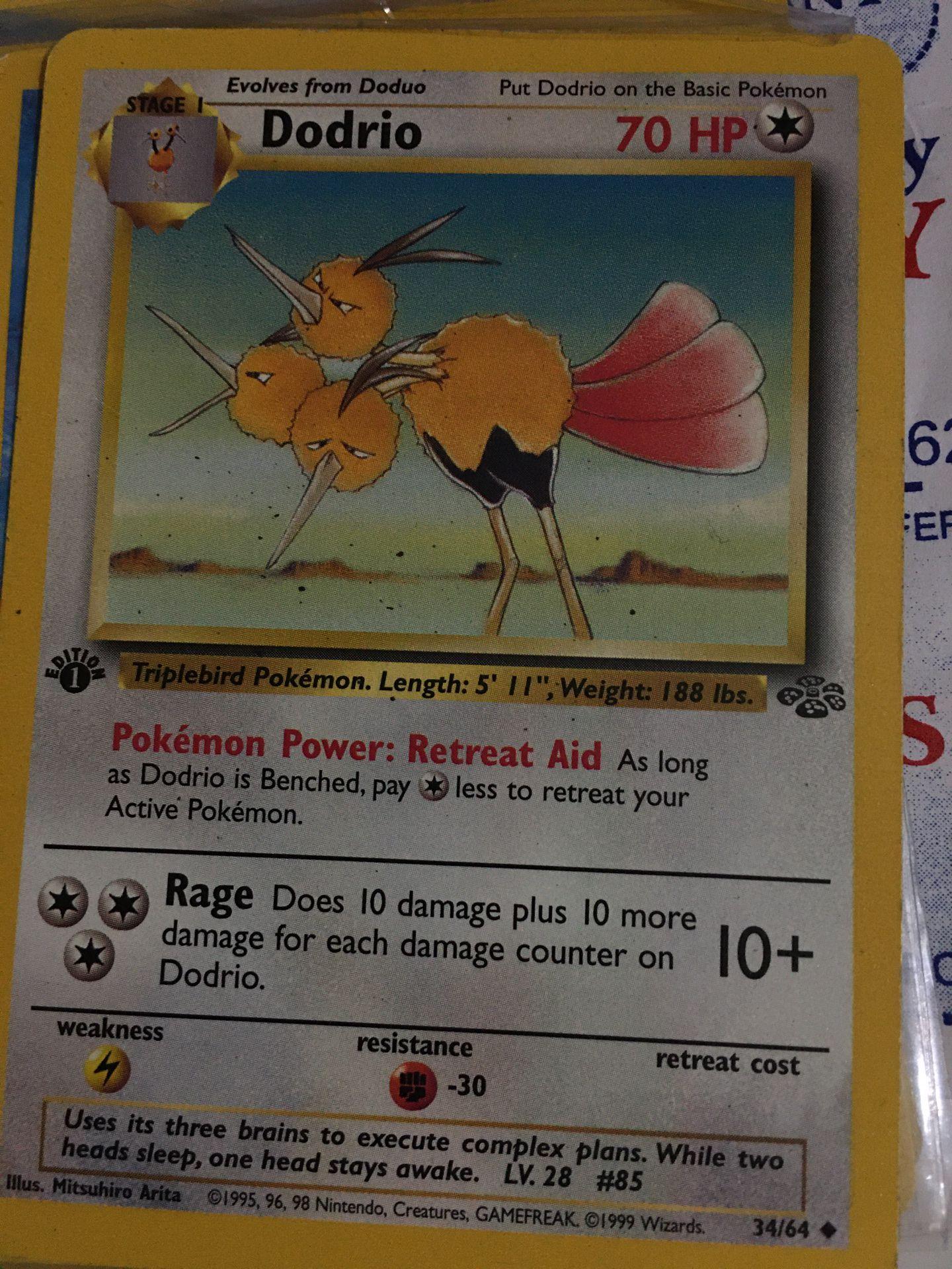 Pokémon card Dodrio 34/64