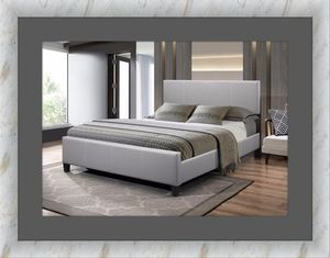 Grey platform bed with mattress free delivery all sizes avail for Sale in Ashburn, VA