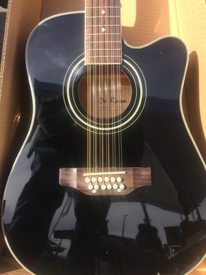 Black Beauty 12 String Acoustic Electric Guitar for Sale in El Cajon ...