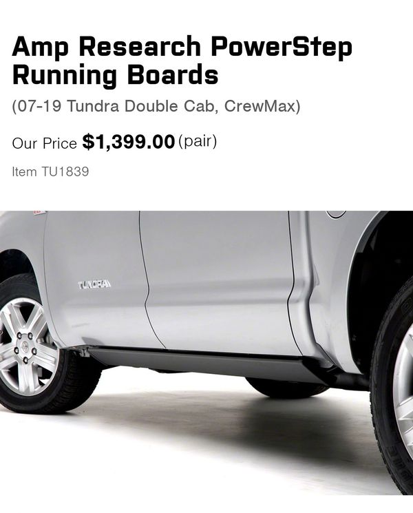 07-19 Toyota Tundra Amp Research Running Boards For Sale