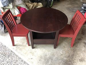 Kids Wooden Table and 2 Chairs for Sale in Newcastle, WA