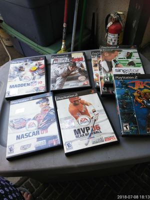 4 PlayStation 2 baseball games ,3sing it n 1 Jak ll 30.00all for Sale in Bakersfield, CA