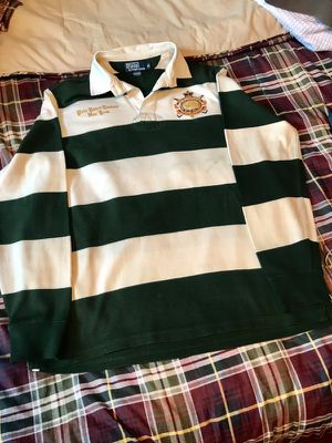 Ralph Lauren Polo Mens Rugby Shirt Size M w/elaborate Gold Crest Coat of Arms for Sale in New York, NY