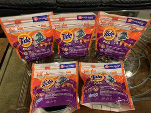 5 packs Tide Pods 16 cts. for Sale in Fort Belvoir, VA