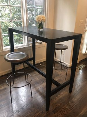 Crate and Barrel High dinning table. for Sale in Alexandria, VA