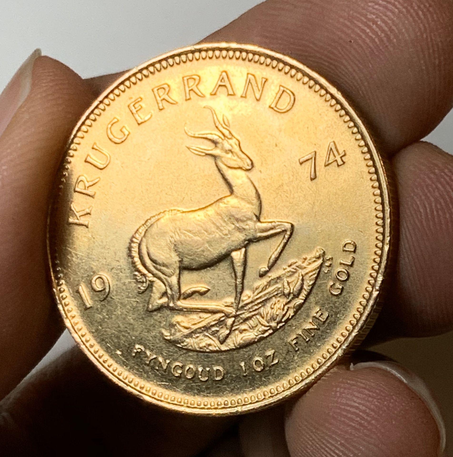 1974 Krugerrand 1Oz Fine Gold Coin