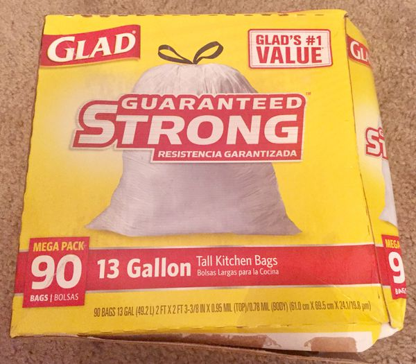 Glad Tall Kitchen Drawstring Trash Bags 13 Gallon 90 Count For In Indianapolis Offerup