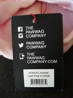 NWT Adidog Hoodie in Light pink size small Thumbnail