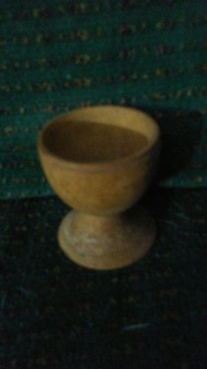 Small Hand Carved Wooden Chalice for Sale in Apopka, FL