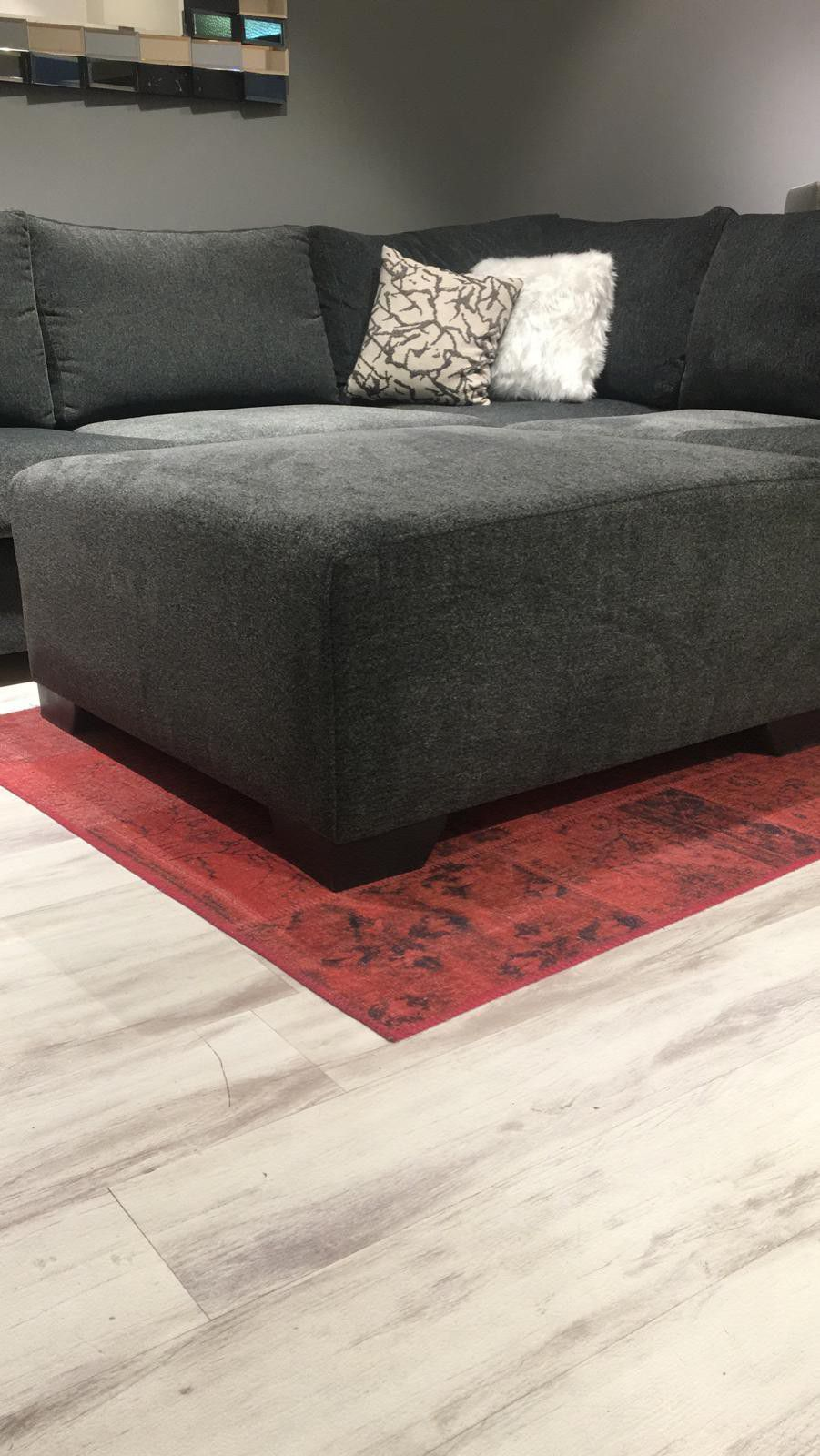 Smoke Sectional Couch, Living Room // Delivery Available