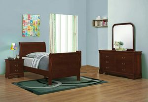 Cherry 3-Piece Twin Bedroom Set for Sale in Rockville, MD
