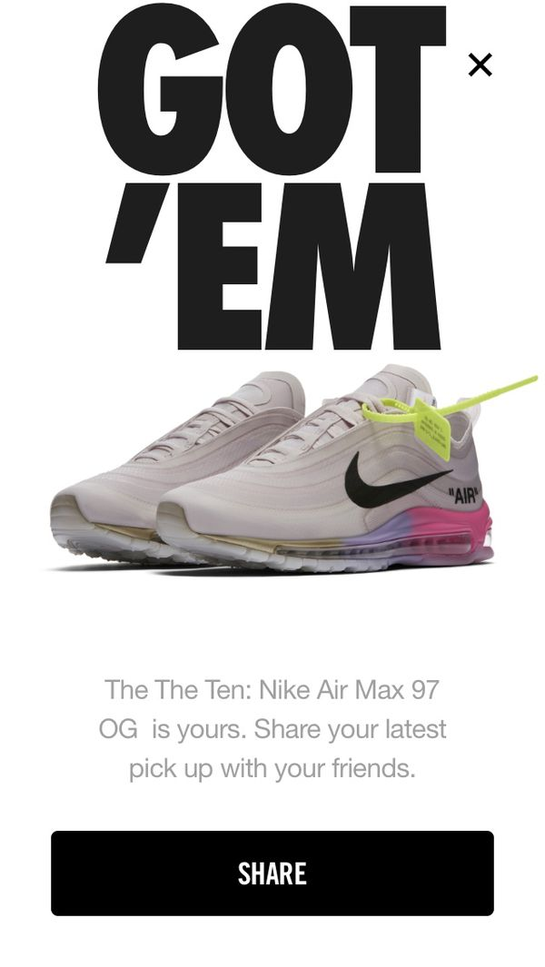 GOT 'EM Nike Air Max 97 Is Yours Share Your Latest Pick Up