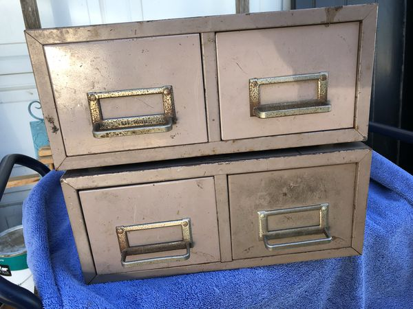 Metal File Card Cabinets
