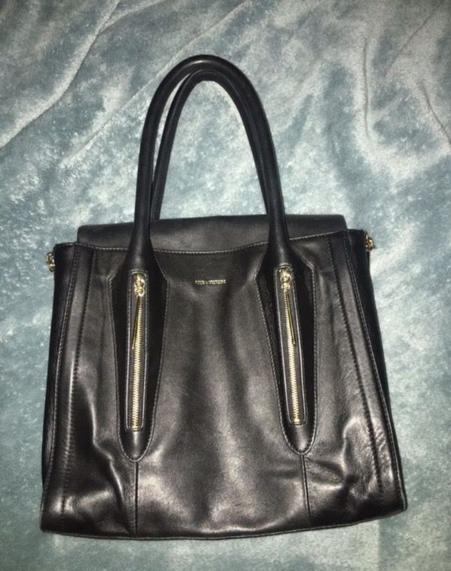 Italian leather designer handbag