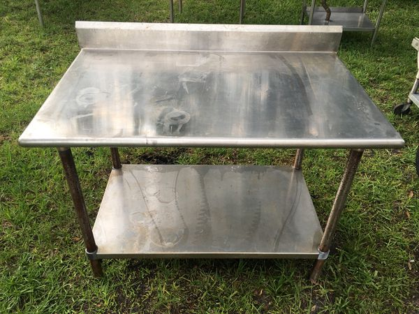 Stainless Steel Table Business Equipment In Tampa FL OfferUp - Stain steel table