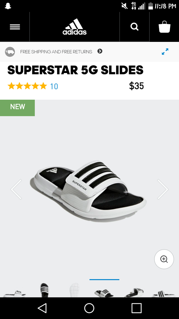 quality design be524 67389 Adidas superstar 5g slides for men for Sale in Montebello, CA - OfferUp