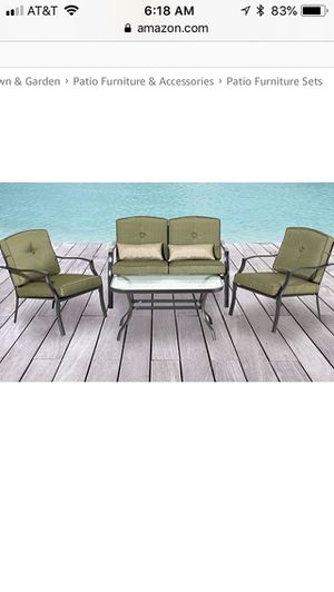 New Backyard Clics Cypress Four Piece Patio Seating Set For In Dublin Oh