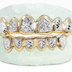 10kt 6pcs Grillz Yellow Gold White Gold Rose Gold Any Design For $325 Thumbnail