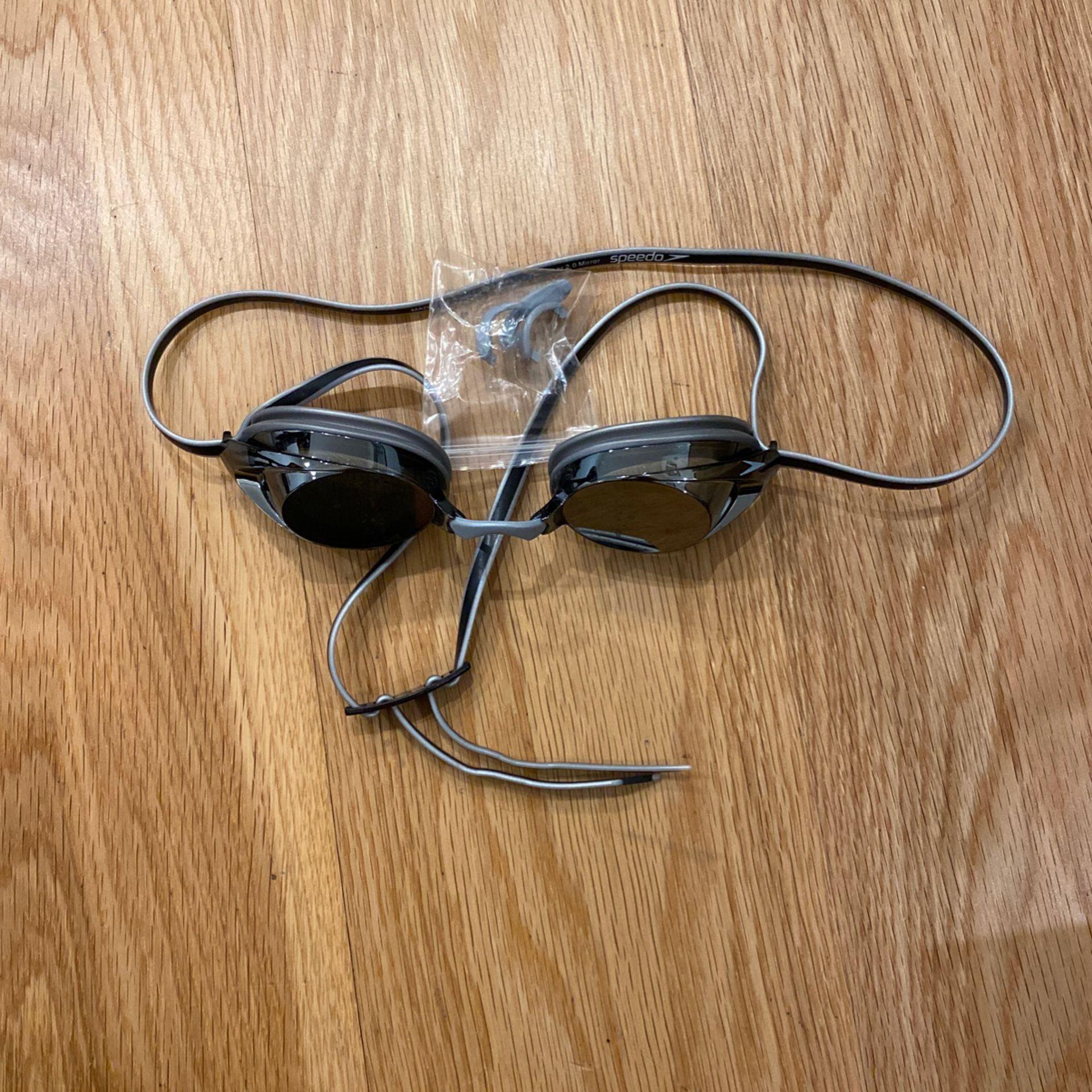 Speedo Swim Goggles - Silver reflective / Black