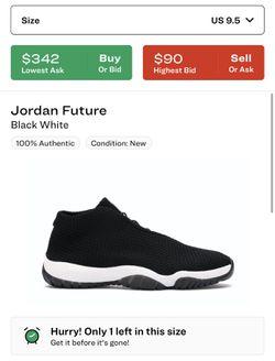 Jordan Future White/Black Size 9.5 Thumbnail