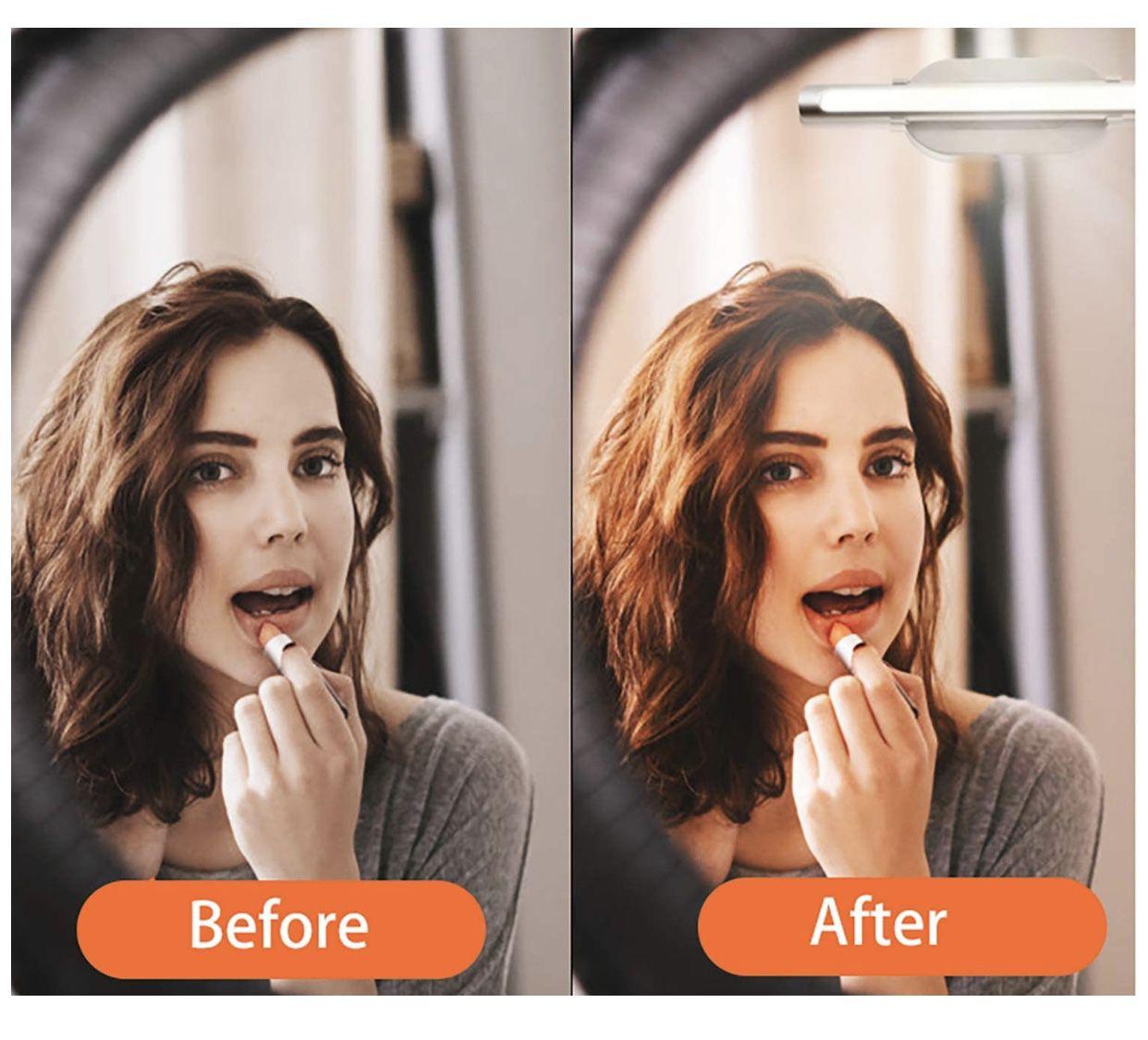 MYPLUS luces de tocador portátiles, luz de maquillaje recargable
