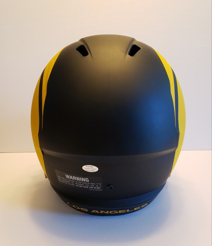 LA Rams Eric Dickerson Signed Eclipse Speed Helmet w/ Rookie Card