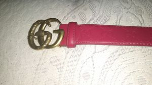 Red leather gold buckle gucci for Sale in Baltimore, MD