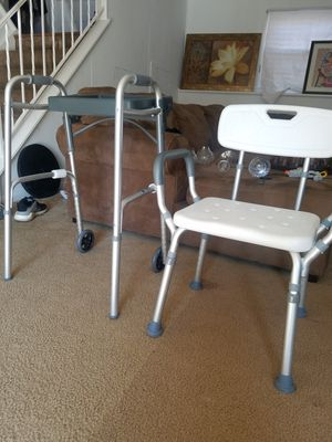 Walker on Wheels & Shower Chair for Sale in Fairfax, VA