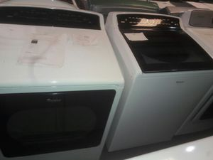 NEW- Whirlpool Cabrio Top Load Washer and Dryer Set- WARRANTY for Sale in Atlanta, GA