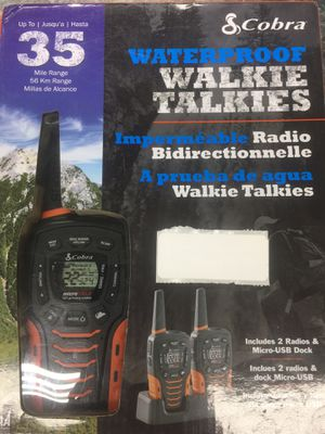 Cobra 2 way walkie talkies 35 mile range for Sale in Silver Spring, MD