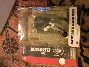 "Oakland raiders ""tim brown"" figure toy sealed. for Sale in Alexandria, VA"