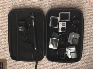 GoPro Hero4 silver with accessories and carrying case for Sale in Alexandria, VA