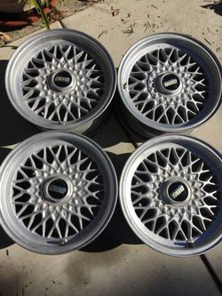 BBS 4x100 15x7 Basketweave Wheels Thumbnail