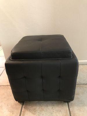 Black Ottoman with Storage for Sale in Scottsdale, AZ