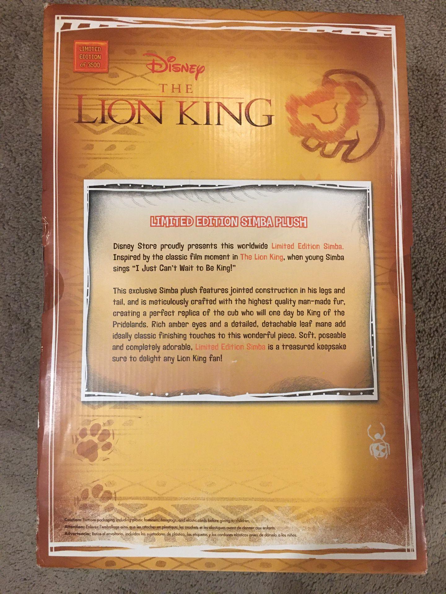 "Lion Long Simba Limited Edition 12"" Plush"