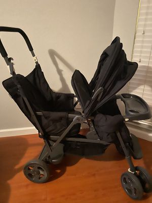 Photo Double stroller baby toddler