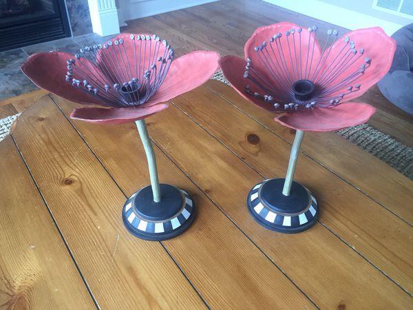 Mackenzie Childs Red Poppy Flowers For Sale In North Tonawanda Ny