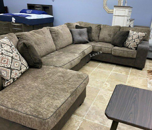 🌲same DAY delivery & free delivery 💠 Abalone Chocolate LAF Sectional 💠
