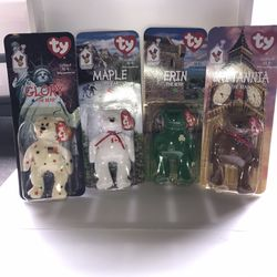 McDonald's 1999 Beanie Babies set International  Bear Collection  Some with tag errors Thumbnail