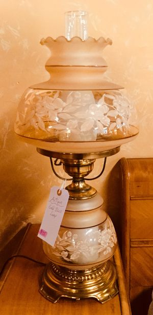 Antique Gold Shade Brass Base Lamp for Sale in Jim Thorpe, PA