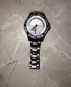 Photo Bulova Women's Quartz Heart Motif Crystal Accent Watch