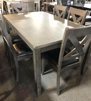 Farm style dining table with 6 chairs for Sale in Baltimore, MD