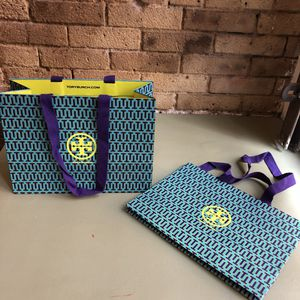 """Two TORY BURCH Paper Shopping Bags 12""""W x 9""""Hx 5""""D (Tribeca Manhattan) for Sale in New York, NY"""