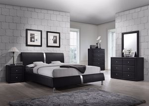Contemporary Platform bed - Queen Size - Brand New - Free Delivery for Sale in Austin, TX