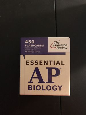 AP biology review flash cards Princeton review for Sale in Woodbridge, VA