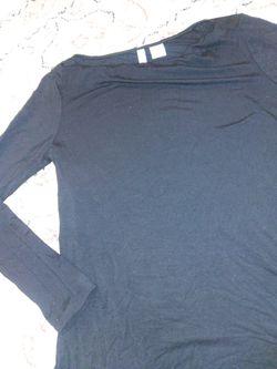 Paraphrase Women's Size XS Black Long Sleeve Soft Jersey Blouse Thumbnail
