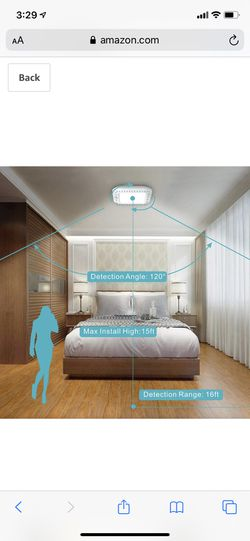 Lineway Motion Sensor Ceiling Light Battery Operated Wireless Motion Activated LED Ceiling Light 6000K 180LM Indoor Outdoor for Closets Stairway Cabi Thumbnail