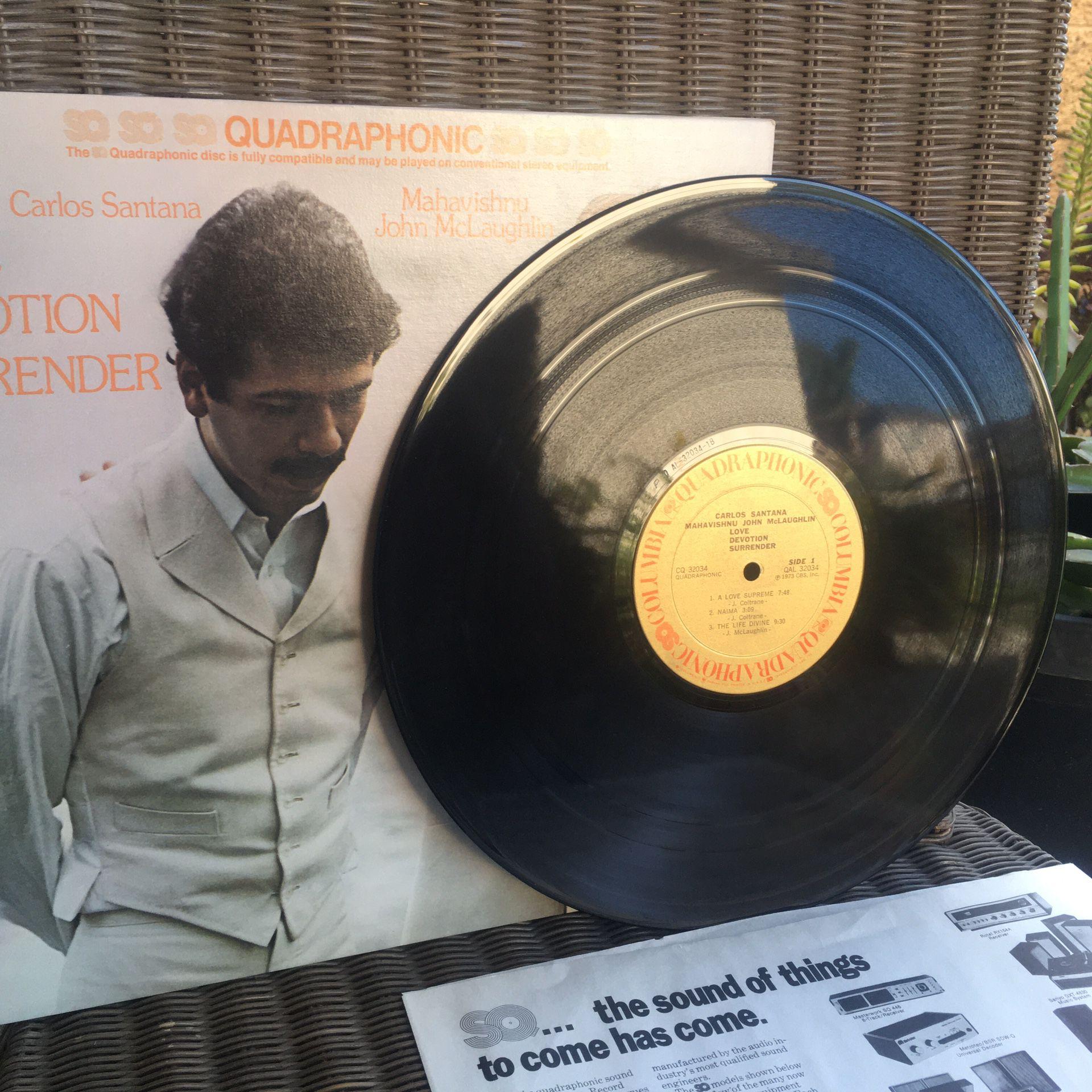 Carlos Santana & Mahavishnu John McLaughlin Vinyl Record