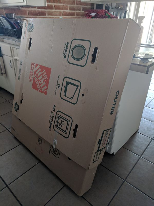 Heavy Duty Tv Large Picture Or Mirror Moving Box